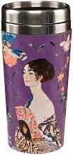 Gustav Klimt Thermobecher Dame mit Fächer H.