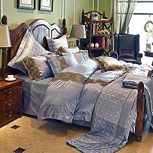 Gute qualität 100% Silk comforter set soft komfortable zimmer mit einer dauerhaften bettwäsche 10Stücke bettwäsche set-E King