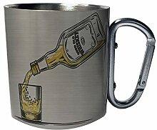 Guter alter Whisky Vintage Edelstahl Karabiner