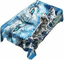 GUTT 3D Tischdecke Eiswolf Muster für Kinder