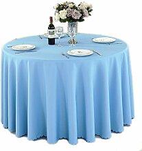 GUTT Runde Tischdecke Camping einfarbig Tischdecke
