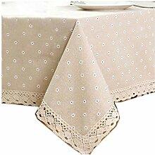 GUTT Tischdecke mit Gänseblümchen-Muster, Leinen
