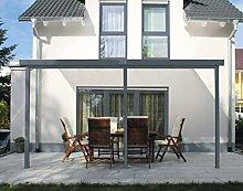 Gutta Terrassenüberdachung Aluminium, anthrazit,
