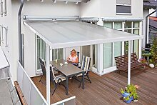 Gutta Terrassenüberdachung Aluminium, weiß, Typ