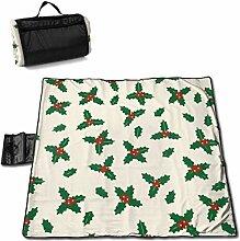 GuyIvan Picknickdecke Weihnachten Eibe Baum Muster