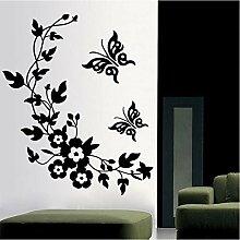 Guyuell 3D Schmetterling Blumen Wandaufkleber Für