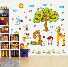 Guyuell Apfelbaum Giraffe Cartoon Tiere Zoo