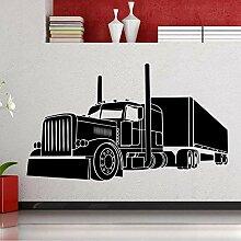 Guyuell Big Truck Vinyl Wandaufkleber Kinderzimmer