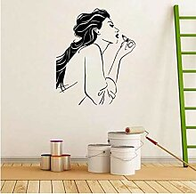 Guyuell Black Hair Wall Decal Schönheitssalon