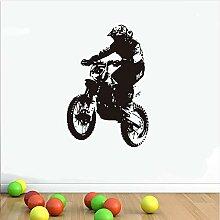 Guyuell Dirt Bike Rider Wandaufkleber Wohnzimmer