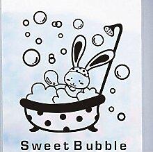 Guyuell Dusche Glastür Aufkleber Cartoon Tier