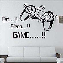 Guyuell Eat Sleep Game Wandaufkleber Jungen
