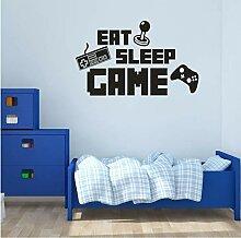 Guyuell Eat Sleep Spiel Aufkleber Gaming Vinyl