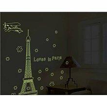 Guyuell Eiffelturm Licht Aufkleber Bewegliche