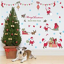 Guyuell Frohe Weihnachten Fensteraufkleber Diy