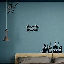 Guyuell Für Zuhause Happy Halloween Wandaufkleber
