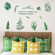 Guyuell Grüne Palme Blätter Wandaufkleber Vinyl