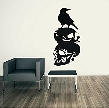 Guyuell Halloween Crow Hintergrund Wandaufkleber