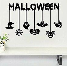Guyuell Happy Halloween Hexe Fledermäuse