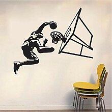 Guyuell Junge Basketball Schießen Wandaufkleber