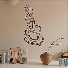 Guyuell Kaffee Removable Decal Art Vinyl Wandbild