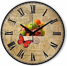 guyuell Küche Uhr Withe Wasserdichte Uhr Fruits