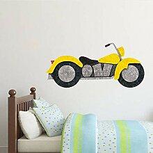 Guyuell Motorrad Wandkunst Aufkleber Klassische