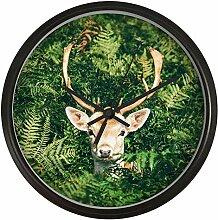 guyuell Nordic Art Wanduhr Wald Deer Schlafzimmer
