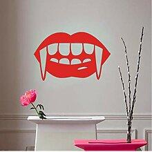 Guyuell Red Vampir Kuss Totenkopf Lip