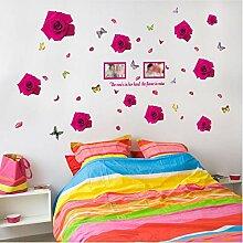 Guyuell Romantische Rose Hintergrund Wand