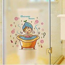 Guyuell Schöne Mädchen In Der Badewanne Glastür