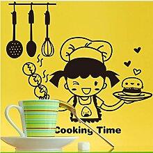 Guyuell Schwarz Happy Kitchen Girl Wie Kochen Zeit