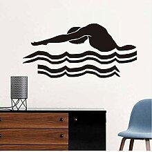 Guyuell Schwimmen Wandaufkleber Schwimmen