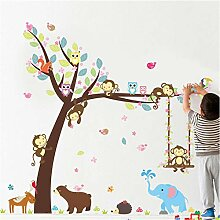 Guyuell Waldtiere Baum Wandaufkleber Für