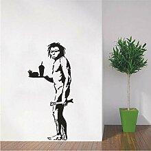 Guyuell Wandtattoo Vinyl Aufkleber Banksy Caveman