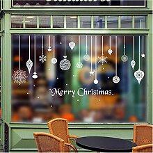 Guyuell Weihnachten Wandaufkleber Fenster Glastür