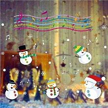 Guyuell Weihnachtsmusik Schneemann Wandaufkleber