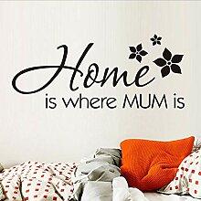 Guyuell Zuhause Ist, Wo Mama Ist Wand Aufkleber