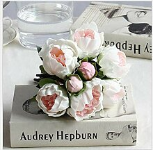 GVHGV Blumen Pu Blumen Brautstrauß Pfingstrose