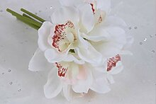 GVHGV Orchidee Künstliche Blumen 6 Köpfe