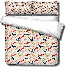GVJKCZ 3D Bettbezug Set Weiß rot blau bis große