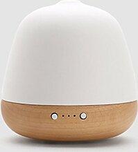 GWDZX Luftbefeuchter Aroma Diffusor Luftreiniger Kreativ Home Schlafzimmer Yoga Büro Spa Gesundheit No Noise Schmerzlinderung,White-12.7*12.7*13cm