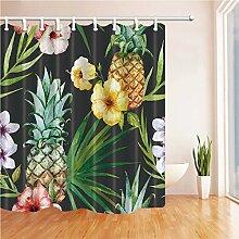 GWELL Ananas-Duschvorhang, wasserdicht Mehltau
