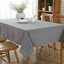 GWELL Baumwolle Tischdecke Eckig Abwaschbar Tischtuch Pflegeleicht Schmutzabweisend Farbe & 6 Größe wählbar grau 140*140cm