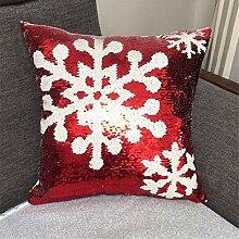 GWELL Dekorativ Kissenbezug Weihnachten