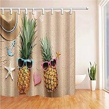 GWELL Duschvorhang Pflanzen Wasserdicht Anti-Schimmel für Badezimmer Muster-E 180x210cm