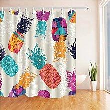 GWELL Duschvorhang Pflanzen Wasserdicht Anti-Schimmel für Badezimmer Muster-A 180x180cm