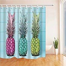 GWELL Duschvorhang Pflanzen Wasserdicht Anti-Schimmel für Badezimmer Muster-G 180x210cm