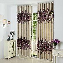 GWELL Elegant Blumen Vorhang Schal mit Ösen TOP