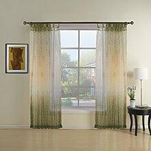GWELL Elegant Transparent Vorhang Gardine aus